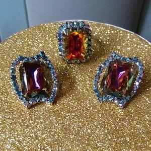 Stunning Vintage Aurora Borealis Jewelry 1950's